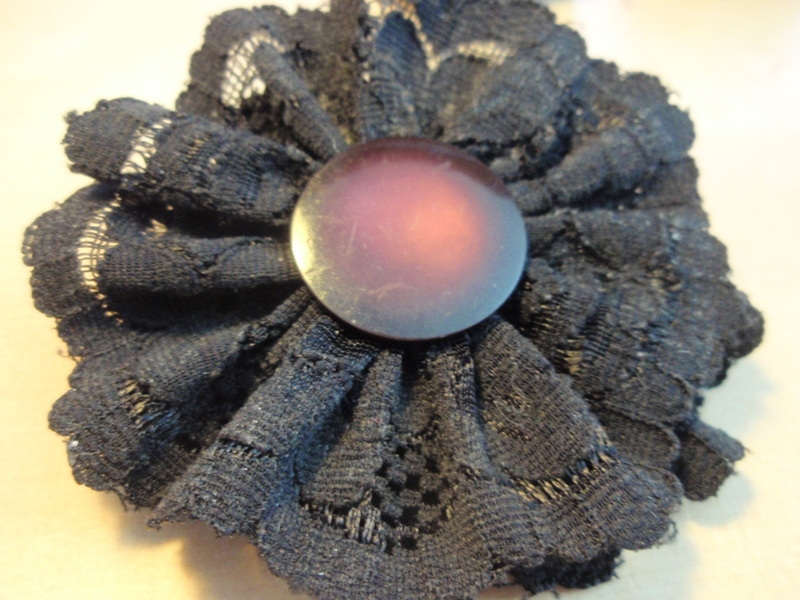 Lace flower barrette 354081184e1fd527122dap7141705