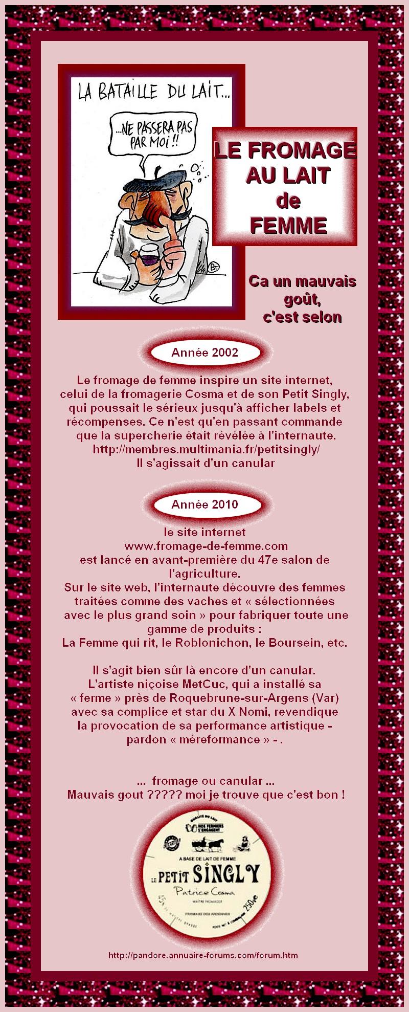LE FROMAGE AU LAIT DE FEMME - CANULAR DE BON OU MAUVAIS GOUT ? 21002555404bb108ee321eaaa